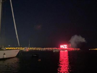 I fuochi d'artificio sul Porto di Anzio salutano il Ferragosto 2021