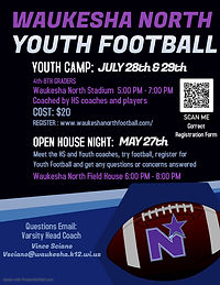 Waukesha North Youth Football Camp
