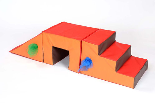 Toddler 3 Piece Steps, Tunnel & Slope
