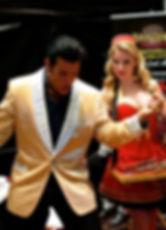 Elvis impersonator with cigarette girl in Toronto