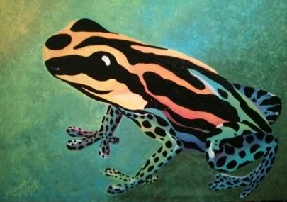 Rainbow Frog 18x24