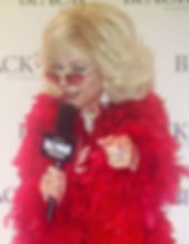 Joan Rivers impersonator funny witty perfect on the red carpet