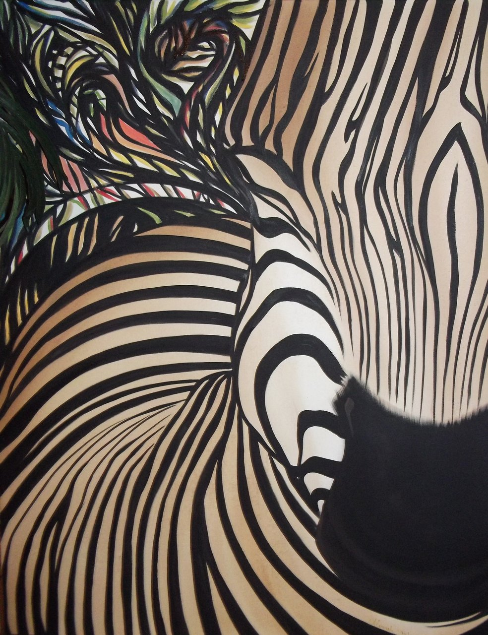 Hypnotic stripes 4x5ft