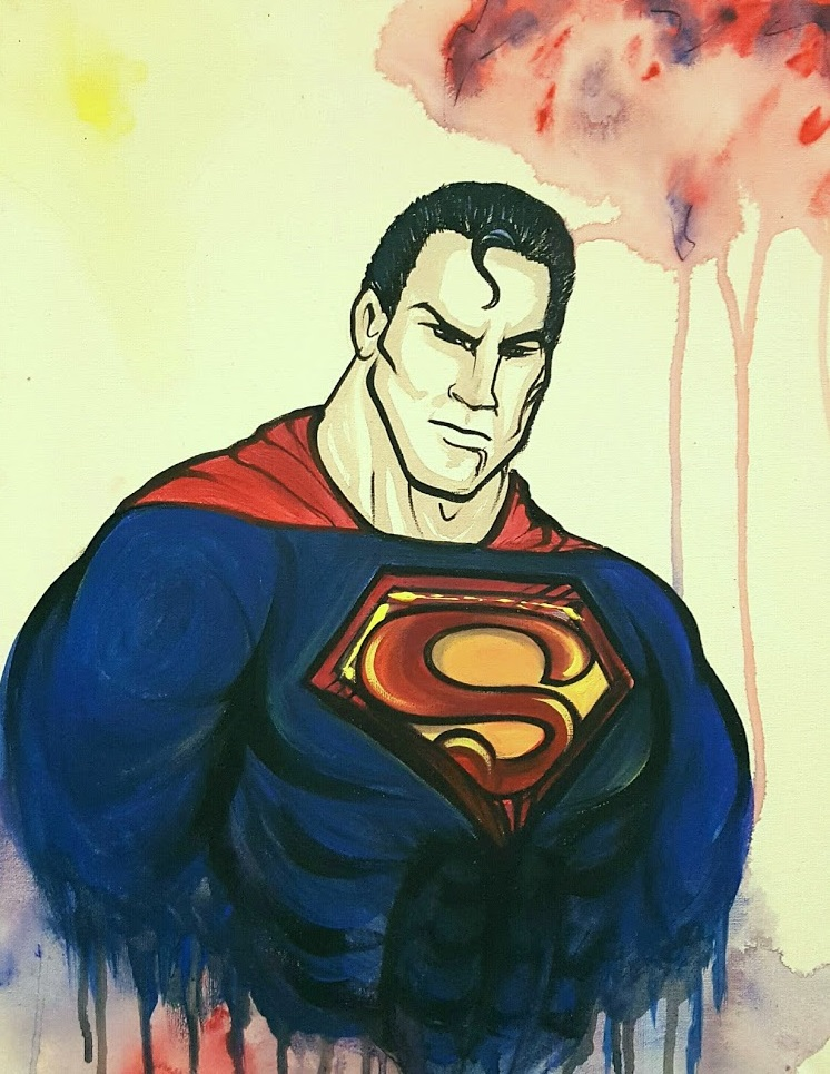 "Superman on 16x20"" canvas"