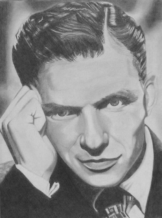Pencil sketch of Frank Sinatra 8x11