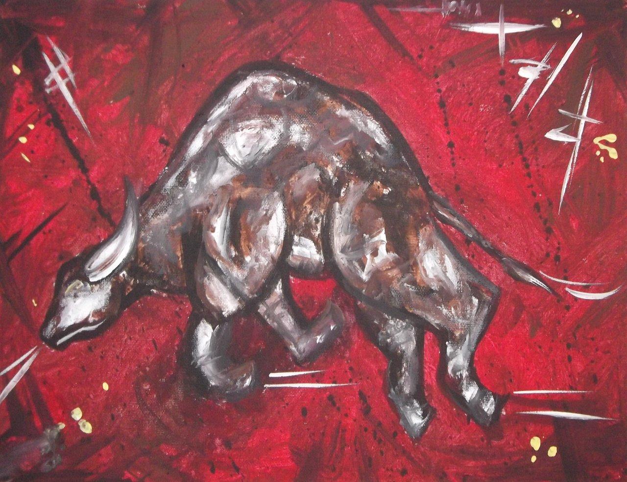 Bull 12x16