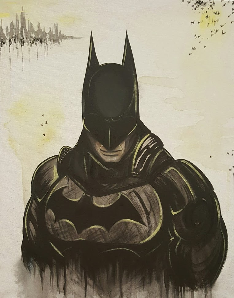 "Batman on 16x20"" canvas"