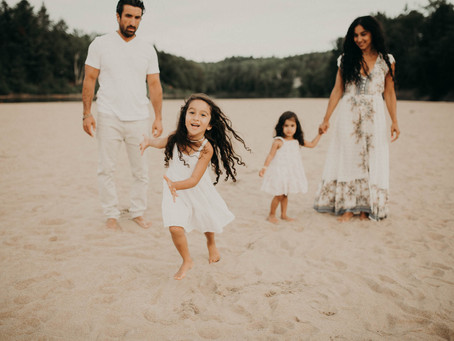 Seance photo famille sur la plage