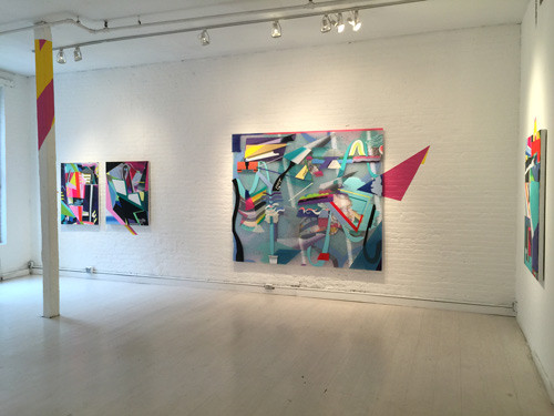 Installation shot of 'Recollection', solo exhibition, 2015