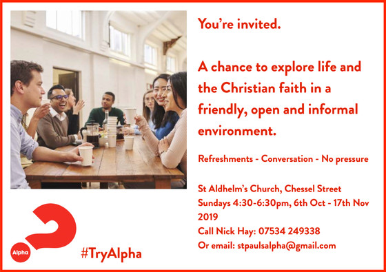 Alpha course - Autumn 2019