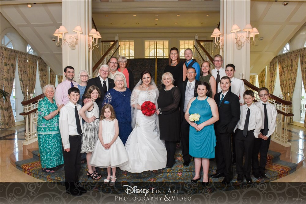 Agent Michelle celebrating her daughter's wedding at Disney