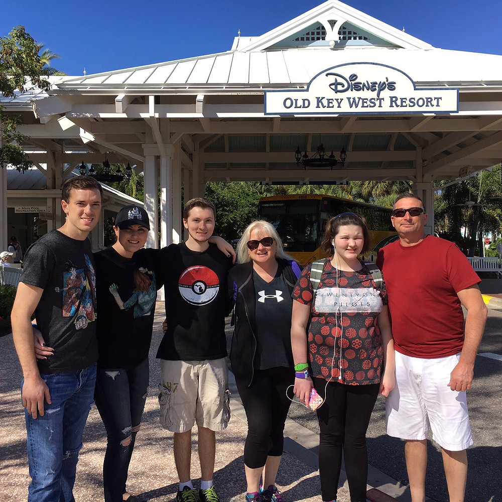 Agent Michelle with her family at Old Key West Resort