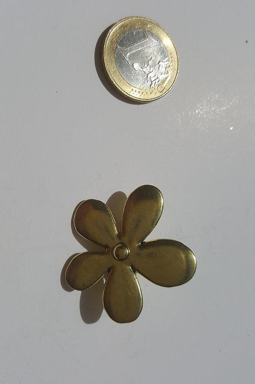 FLor 5 petalos dorada 4 cm