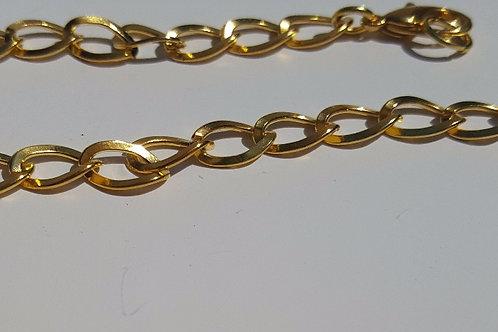 Cadena-asa dorada anillas planas 1 cm