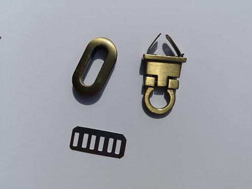 Cierre bronce de 3 cm x 1.5 cm