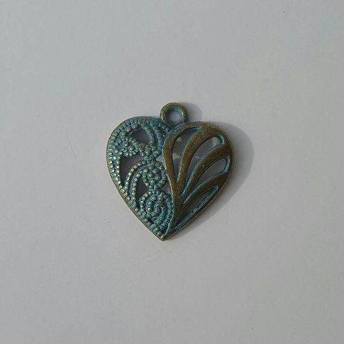 Corazón azulado 2 cm
