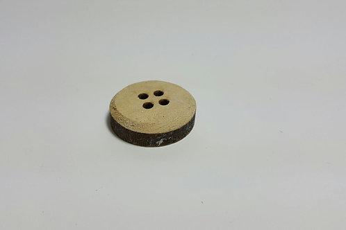 Botón madera M 3 cm de diámetro
