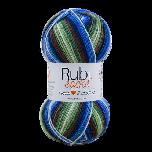 LANA RUBI SOCKS 100g 400 metros 75% lana 25% poliamida 1 ovillo 2 calcetines