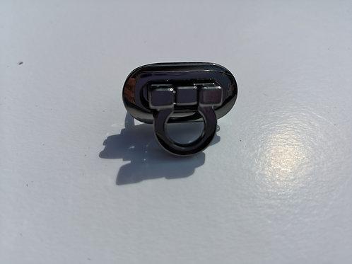 Cierre negro niquel de 3 cm x 1.5 cm