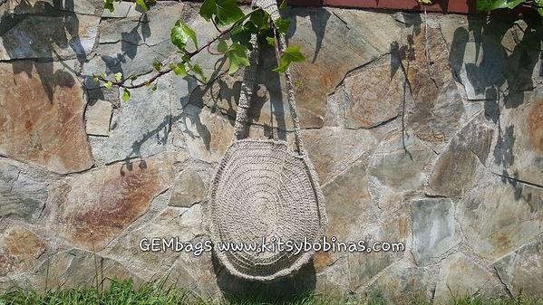 GEMbag HANDMADE realizado con cordón de lino.