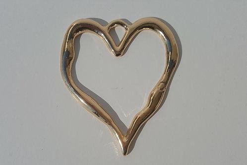 Corazón dorado 8 cm