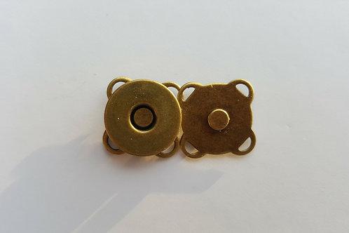 Cierre de imán para coser en color bronce de 1.5 cm