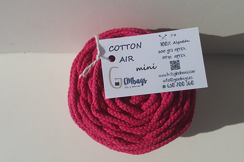 MINI ROSA FRANCÉS COTTON AIR GEMbags BOBINAS 200 GRAMOS 50 METROS CORDÓN 100%