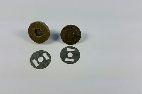 Cierre imán bronce 2 cm de diámetro