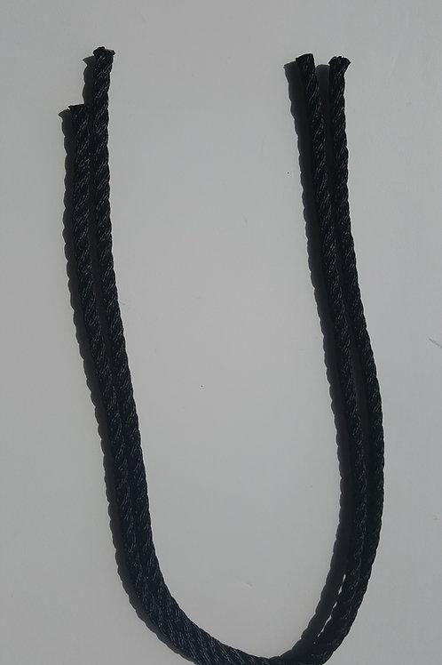 Pack de 2 CUERDAS de 75 cm cada una en NEGRO 8 MM