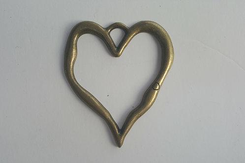 Corazón de BRONCE 8 cm