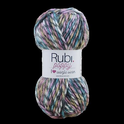 RUBI POPPY 100g 120 m 25% lana 75% acrílico premium
