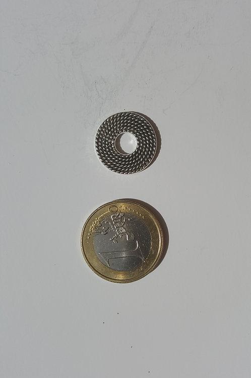 aritos 2 cm plateado