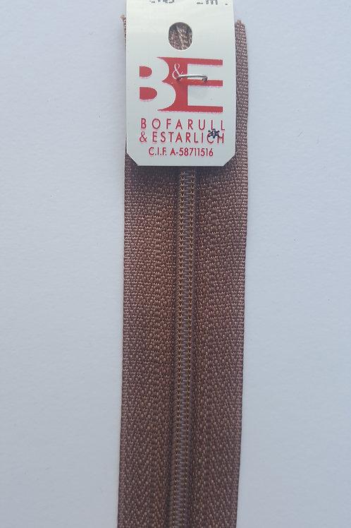Cremallera marrón 30 cm KB