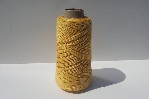 AMARILLO LINO NATURAL 5/C GROSOR 2 MM BOBINA 200 GRAMOS