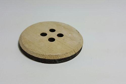 Botón madera L 5 cm de diámetro