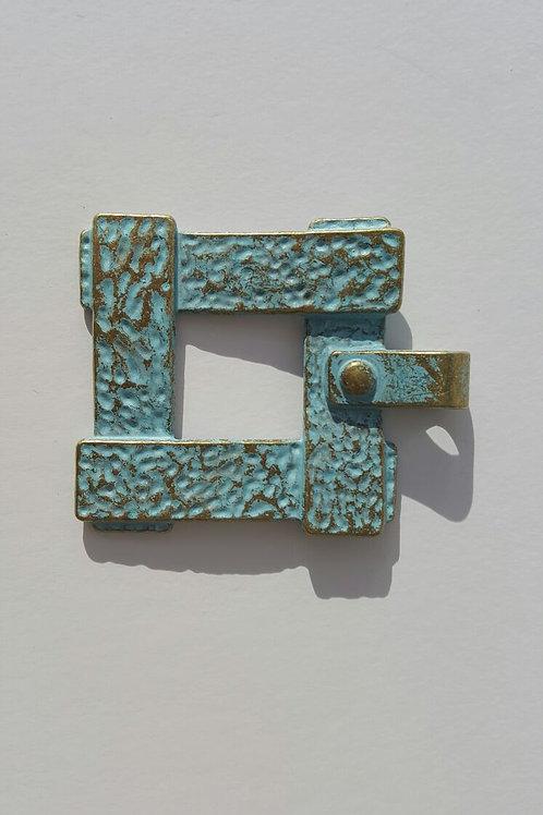 Cuadrado oro viejo azulado