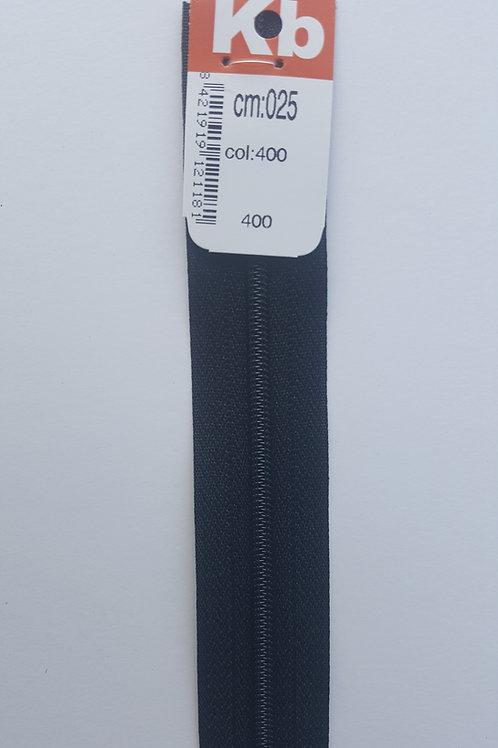 Cremallera gris 25 cm KB