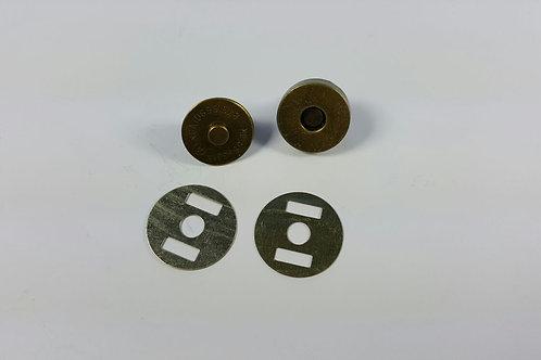 Cierre imán bronce 1,4 cm diámetro