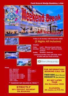Weekend Break at St Pauls Bay