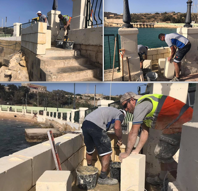 Access to Cottonera's only sandy beach
