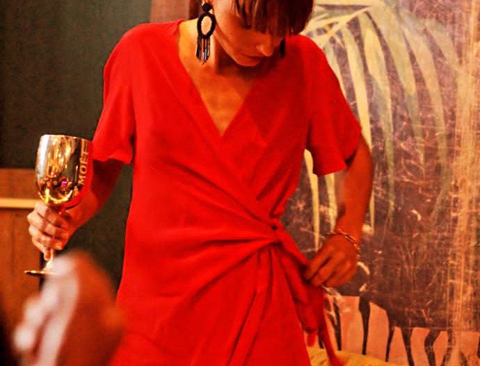 Robe Cross /rouge