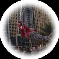 Spectacle de cirque aérien - Swing up