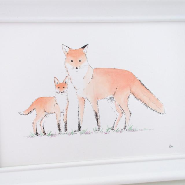 Fox with Cub