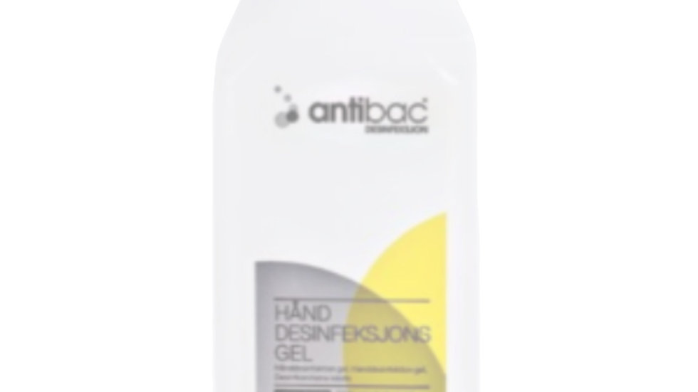 Antibac Gel. 600ML  pumpeflaske. 85%