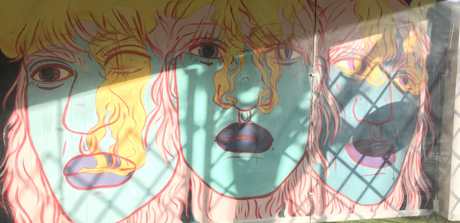 2019 Tell Me How You Feel window installation KO Gallery, Hamtramck, MI