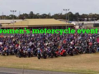 2WheelBabes Mega Babe Raid, the biggest women's only motorcycle event in Australia.