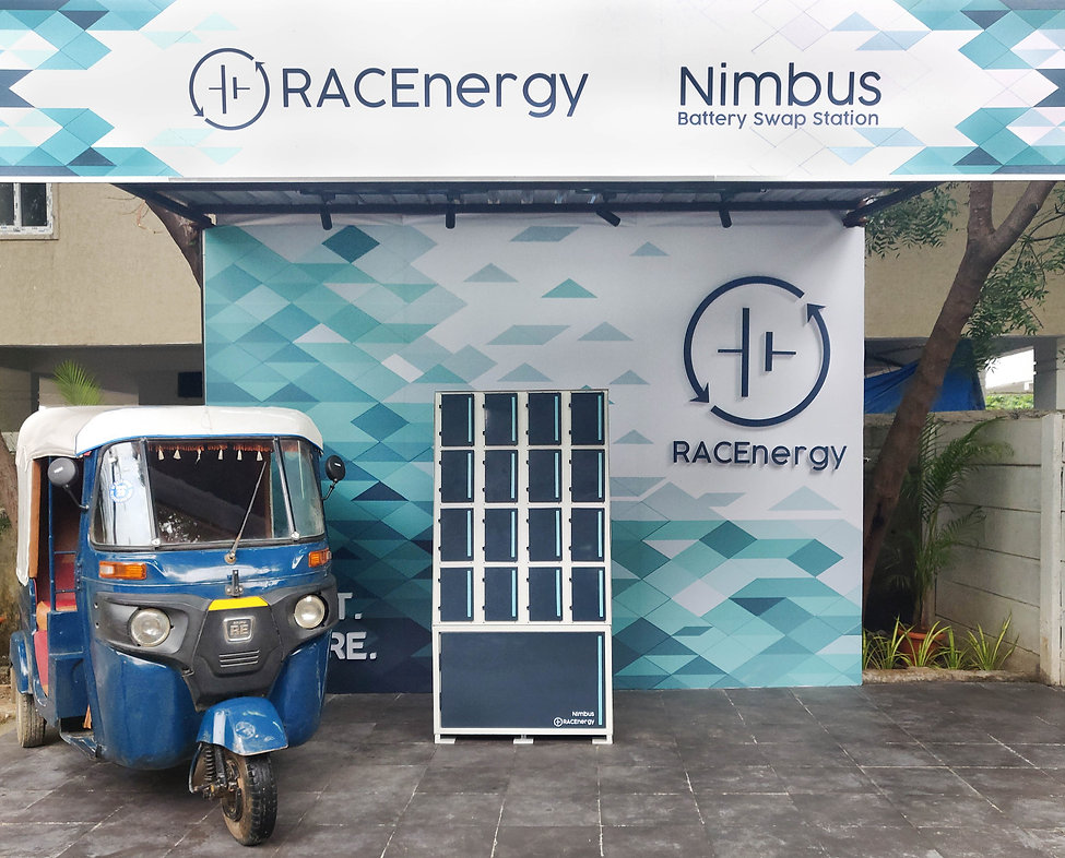 RACEnergy's Battery Swapping Station Nimbus