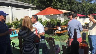 Vanessa Chantal bartending a man Babyshower with 20 guests in Pasadena, Ca