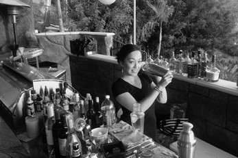 Vanessa Chantal bartending a christening in Whittier, Ca with 40 Guests