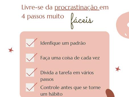 Livre-se da procrastinação em 4 passos super fáceis